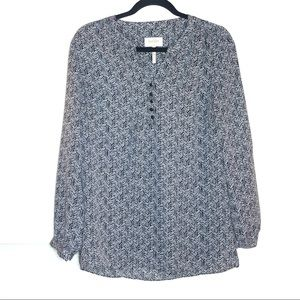 Laundry Shelli Segal cheveron design blouse